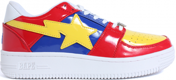 A Bathing Ape Bapesta Red Blue Yellow (2017) - 001FWD801001XRED