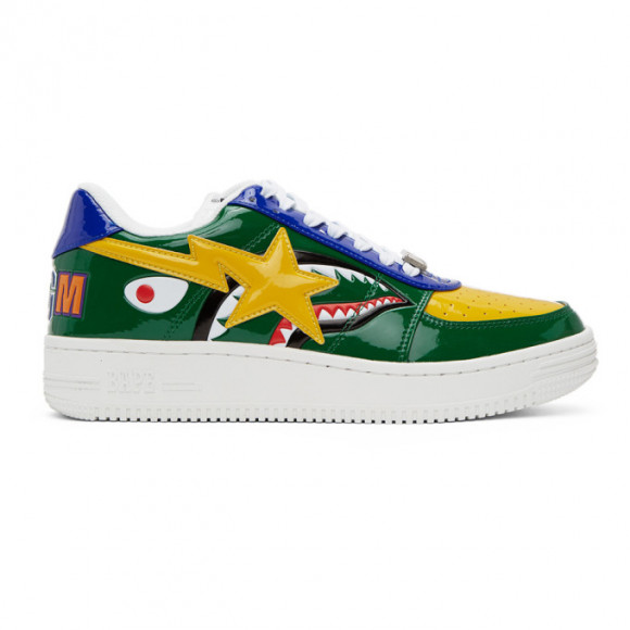 BAPE Green Shark Sta Low M2 Sneakers - 001FWG301002XGRN