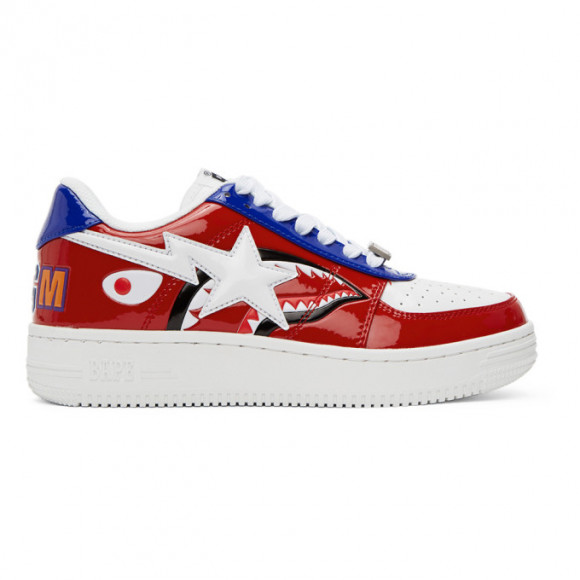 BAPE Red Shark Sta Low M2 Sneakers - 001FWG301002XRED