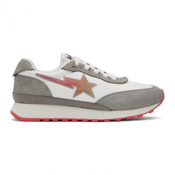 BAPE White Roadsta Express Sneakers - 001FWG301003XWHT
