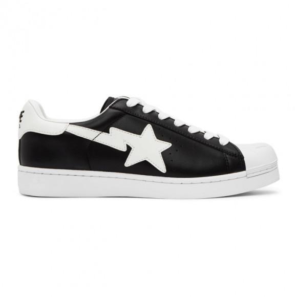 BAPE Black Glow-In-The-Dark Skull Sta Sneakers - 001FWG301006XBLK