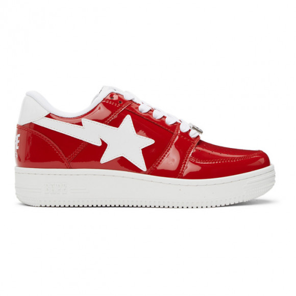 BAPE Red Sta Low M2 Sneakers - 001FWG301010XRED