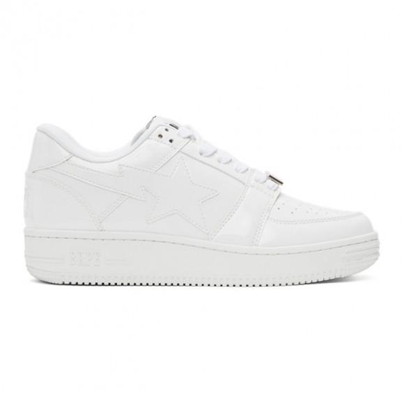 BAPE White Sta Low M2 Sneakers - 001FWG301010XWHT