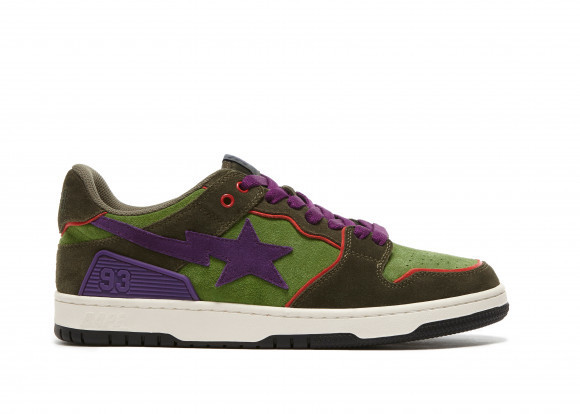 A Bathing Ape Sk8 Sta Dark Purple Green - 001FWG701029X