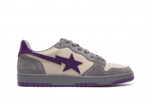A Bathing Ape Court Sta Mist Grey Royal Purple - 001FWG701032X