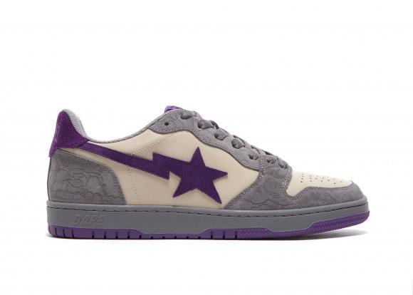 A Bathing Ape Court Sta Mist Grey Royal Purple - 001FWG701032X