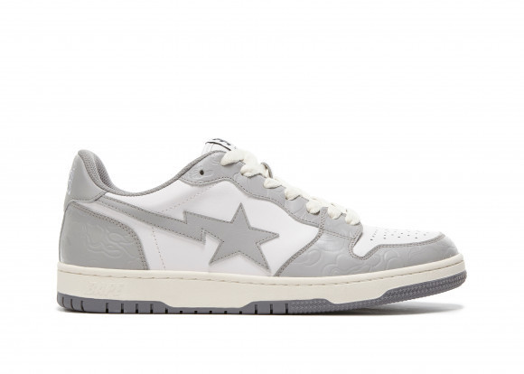 A Bathing Ape Court Sta Light Grey Cream - 001FWG701033X