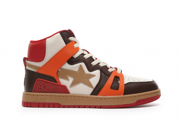 A Bathing Ape Bape Sta 93 Hi Red Orange Light Sand - 001FWG701034X