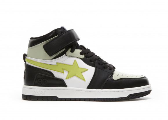 A Bathing Ape Block Sta Hi Black Lime - 001FWG701036X