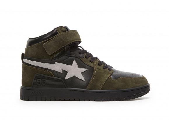 A Bathing Ape Block Sta Hi Dark Grey Light Grey - 001FWG701037X