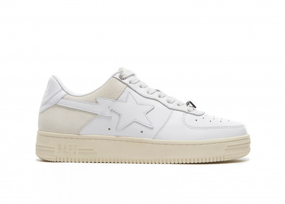 A Bathing Ape Bape Sta Low Suede Heel White - 001FWG701042X