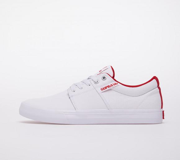 Supra Stacks Vulc II White/ Red-White - 08029-148-M