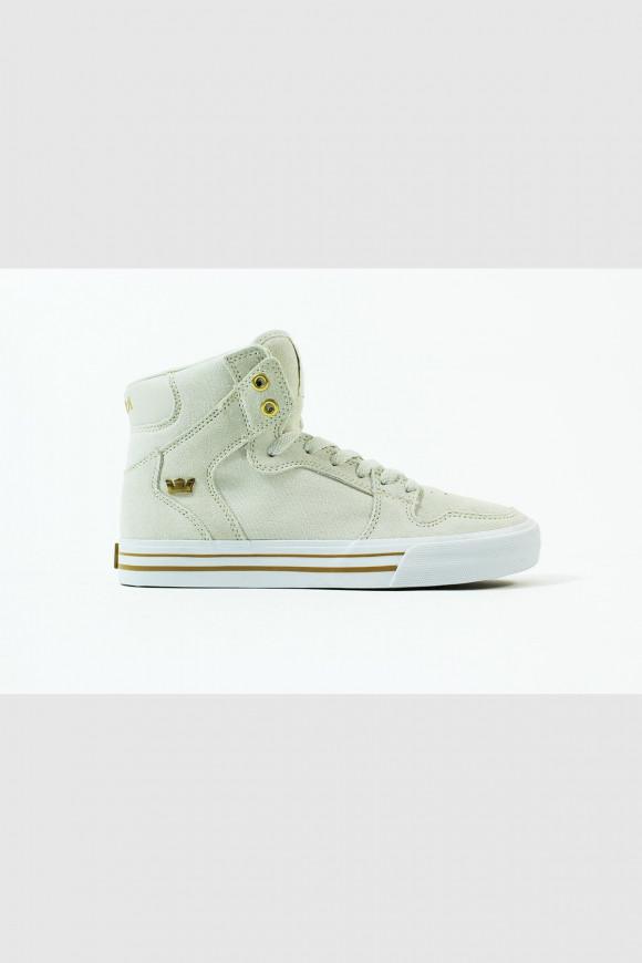 Supra - Vaider Hightop Sneaker ganz in Weiß - 08203-114