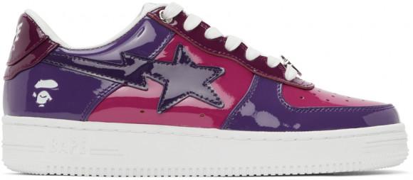 BAPE Pink & Purple Patent Sta Sneakers - 0ZXSHM191046G