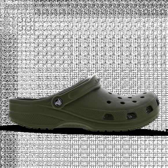 Crocs Classic Clog - Women's Slides - Army Green / Army Green - 10001-309