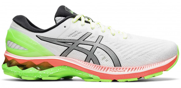 Asics Gel Kayano 27 Lite Show 'Colorful Sole' White/Pure Silver Marathon Running Shoes/Sneakers 1011A885-100