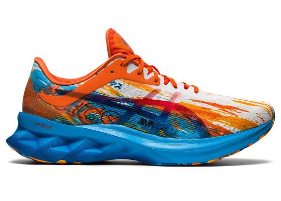ASICS® Novablast - Men's Running Shoes - Digital Aqua / Marigold Orange