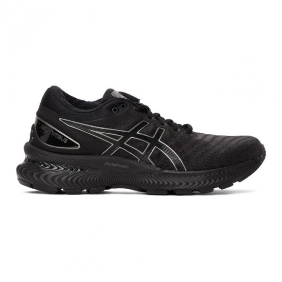 ASICS Womens ASICS® GEL-Nimbus 22 - Womens Running Shoes Black/Black Size 06.0 - 1012A587