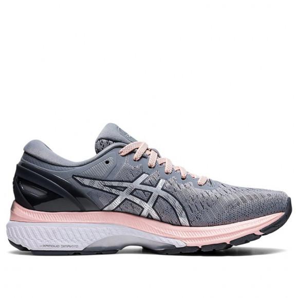 ASICS® GEL-Kayano 27 - Women's Running Shoes - Sheet Rock / Pure Silver / Pink