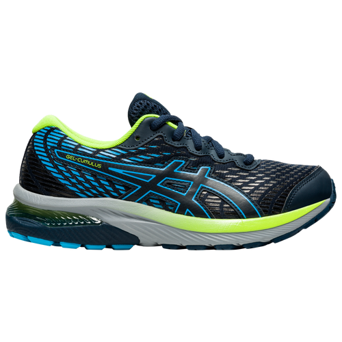 ASICS® Gel-Cumulus 22 - Boys' Grade School Running Shoes - French Blue / Hazard Green