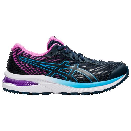 ASICS® Gel-Cumulus 22 - Girls' Grade School Running Shoes - French Blue / Digital Grape