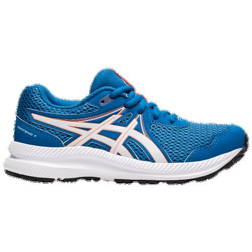 ASICS® Contend 7 - Boys' Grade School Running Shoes - Reborn Blue / White