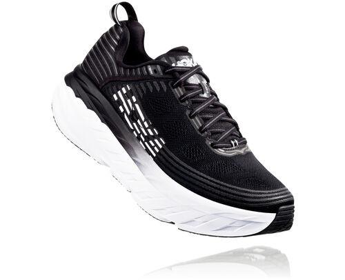 HOKA Bondi 6 Chaussures de Route pour Hommes en Black, taille 46 2/3 - 1019269-BLK