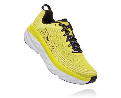 HOKA Bondi 6 Chaussures de Route pour Hommes en Citrus/Anthracite, taille 44 - 1019269-CATH