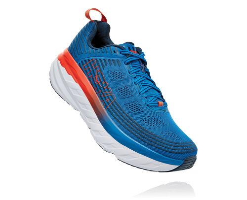 HOKA Bondi 6 Chaussures de Route pour Hommes en Imperial Blue/Majolica Blue, taille 46 2/3 - 1019269-IBMB