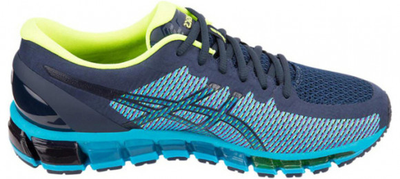 Asics Gel Quantum 360 CM 'Peacoat Yellow' Peacoat/Safety Yellow Marathon Running Shoes/Sneakers 1021A134-401 - 1021A134-401