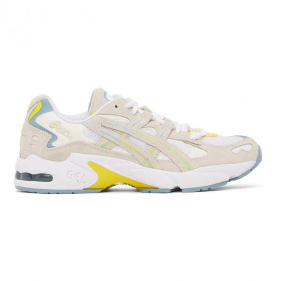 Asics White and Grey Gel-Kayano 5 OG Sneakers - 1021A479