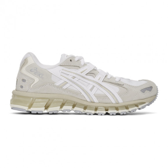 Asics White and Grey Gel-Kayano 5 360 Sneakers - 1022A140