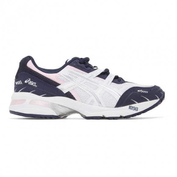 Asics White and Navy GEL-1090 Sneakers - 1022A289.100