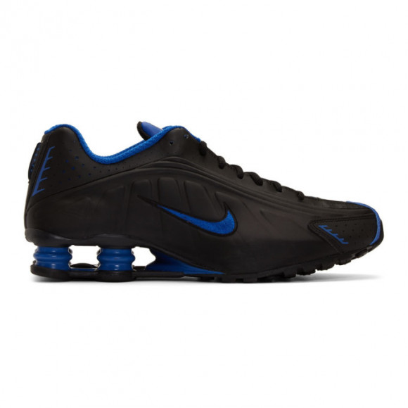 Nike Black and Silver Shox R4 Sneakers - 104265