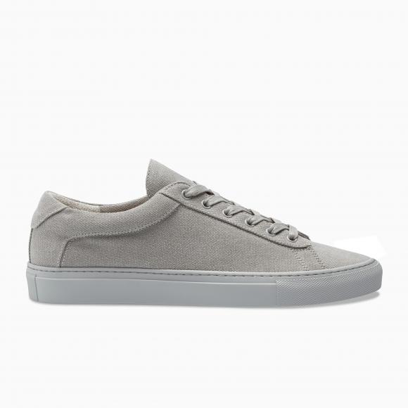 KOIO Men's Low Top Perla Canvas Grey Leather Canvas Capri 10 (US) / 43 (EU) - 10557846982