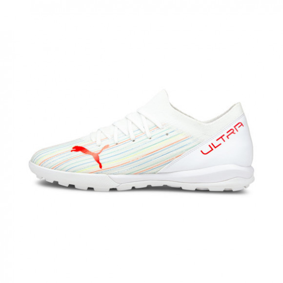 PUMA ULTRA 3.2 TT Men's Soccer Shoes in White/Red Blast/White - 106351-03