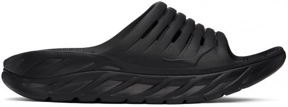 HOKA ONE ONE Ora Recovery Slide - Men's Shoes - Black / Black - 1099673-BBLC