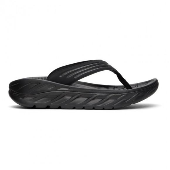 Hoka One One Black Ora Recovery Flip Flops - 1099675-BDGGR