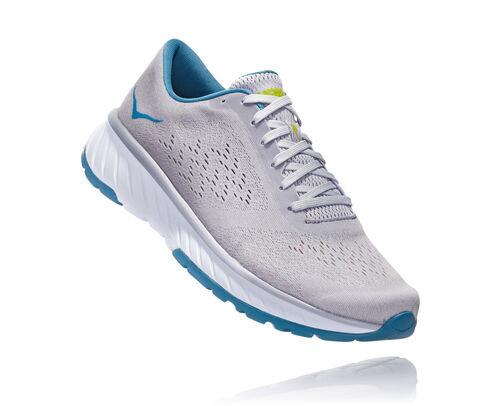 HOKA Cavu 2 Chaussures de Route pour Hommes en Lunar Rock/Storm Blue, taille 49 1/3 - 1099723-NFRG
