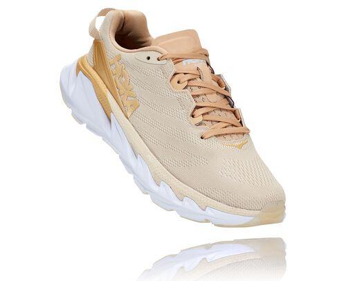 HOKA Women's Elevon 2 Shoes in Almond Milk/White, Size 7 - 1106478-AMWH