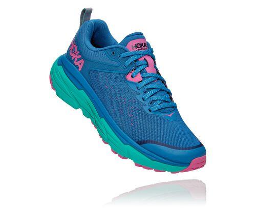 HOKA Women's Challenger Atr 6 Trail Running Shoes in Vallarta Blue/Atlantis - 1106512-VBAT