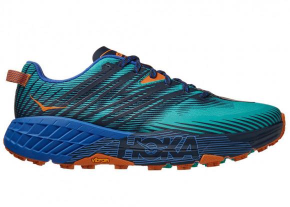 HOKA ONE ONE Speedgoat 4 - Men's Trail Shoes - Atlantis / Dazzling Blue - 1106525-ADGB