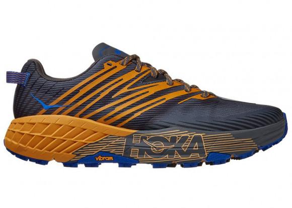 HOKA ONE ONE Speedgoat 4 - Men's Trail Shoes - Castlerock / Golden Yellow - 1106525-CGYW