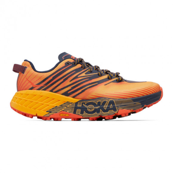 Hoka One One Speedgoat 4 GOLD FUSION BLACK IRIS,Orange, Yellow and Black,Blue and Red,Black,Blue, Pink and Grey - 1106525-GFBI