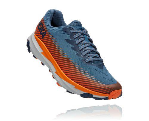 HOKA Men's Torrent 2 Trail Running Shoes in Real Teal/Harbor Mist - 1110496-RTHM