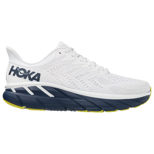 HOKA ONE ONE Clifton 7 - Men's Running Shoes - Blanc De Blanc / Black Iris - 1110508-BDBBI