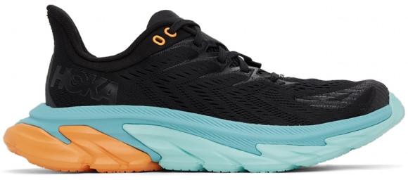 HOKA ONE ONE Clifton Edge - Men's Running Shoes - Black / Aquarelle - 1110510-BAQR