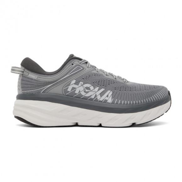 Hoka One One Grey Bondi 7 Sneakers - 1110518-WDDS