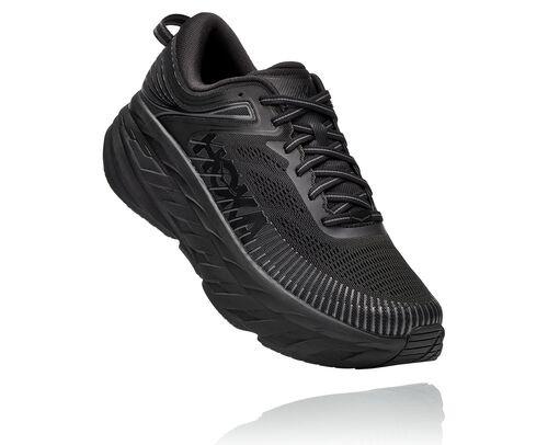 HOKA Bondi 7 Chaussures de Route pour Hommes en Black/Black, taille 40 - 1110530-BBLC