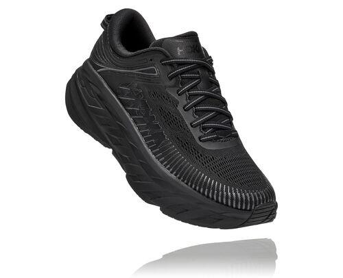 HOKA Bondi 7 Chaussures de Route pour Femmes en Black/Black, taille 39 1/3 - 1110531-BBLC